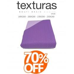 TEXTURAS HOME - Colcha de Verano de color Morado-Lila 180 x 260 cm