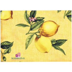 TEXTURAS HOME - Mantel Resinado Antimanchas Limon Amarillo ( Varios tamaños disponibles )
