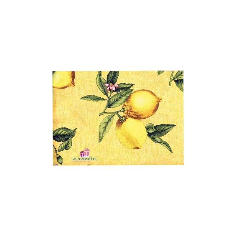 TEXTURAS HOME - Mantel Resinado Antimanchas Limon Amarillo ( Varios tamaños disponibles )