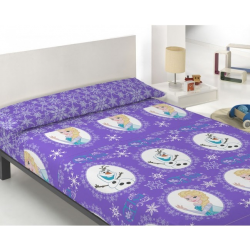 Disney World - Juego de sábanas Frozen El Reino de Hielo Lila 90 X 190/200 cm