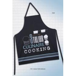 Pack 2X Delantal Cooking Apron Unisex IDEAL 7239 Black Atelier Culinaire