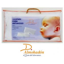 REGALO MUSELINA ALGODÓN 100% + Almohada Cuna ANTIAHOGO Don Almohadón 30x50