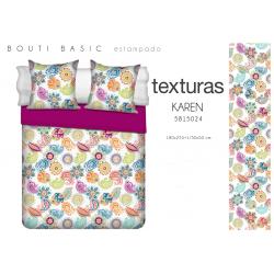 TEXTURAS HOME SECRET Quilt Bouti Verano Basic KAREN 180X255 cms