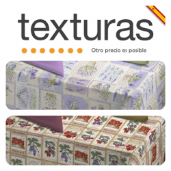 TEXTURAS HOME - Mantel Antimanchas Impermeable Loneta RESINADA Estampada (Varios tamaños disponibles)