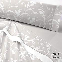 Juego de sábanas Invierno TÉRMICA Bianca Ariel Taupe 150 gr ( cama 150x200 cm )