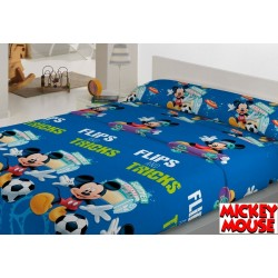 Juego de Sábanas CORALINA INVIERNO DISNEY Mickey Mouse FILPS & TRICKS ( Varios tamaños disponibles )