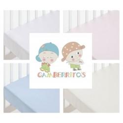 GAMBERRITOS - Sábana Bajera CUNA Adaptable 60X120 ( Diferentes colores disponibles )