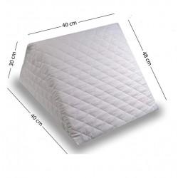 Cojín con Forma de Cuña para Cama y Sofá - Perfecta Sujeción de Espalda Almohada de Lectura 40 x 30 x 48 cm cm