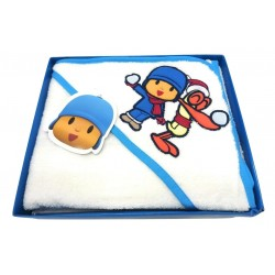 DISNEY BABY - Capa de baño BEBÉ con capucha POCOYO 70x70 cm