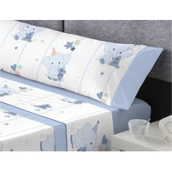 Juego de sábanas Tela HAPPY Azul Catotex 90x190 cm