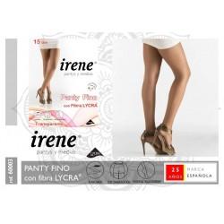 IRENE SPAIN - Panty Fino con Fibra LYCRA Punta Invisible Planchado 15 DEN Color SCALA 60003