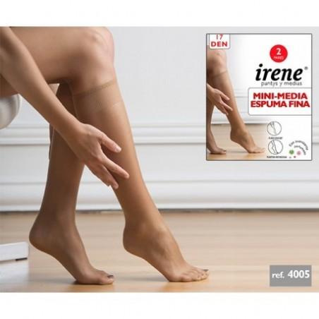 IRENE - ( Pack-3 pares ) Minimedia ESPUMA FINA para mujer TALLA ÚNICA Color Scala 4005 DEN 17