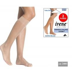 IRENE - ( 3 Packs x 2 pares ) Minimedia GOMA RELAX con Fibra LYCRA para mujer TALLA ÚNICA Color Scala 3441 DEN 20
