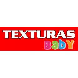 TEXTURAS BABY - Protector Rizo de Algodón ACOLCHADO Impermeable colchón de cuna 60 x 120 cm