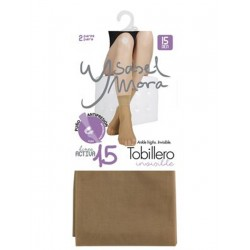 YSABEL MORA - Pack 2 pares MINI MEDIA TOBILLERO Invisible LINEA ACTIVA 15 DEN 18120