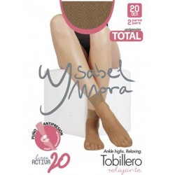 YSABEL MORA - Pack 2 pares MINI MEDIA TOBILLERO Invisible Puño Relax Total LINEA ACTIVA 20 DEN 18122
