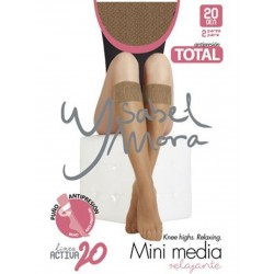YSABEL MORA - Pack 2 pares MINI MEDIA Invisible Puño Relax Total LINEA ACTIVA 20 DEN 15122