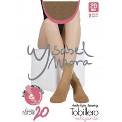 YSABEL MORA - Pack 2 pares MINI MEDIA TOBILLERO Invisible Puño Relajante LINEA ACTIVA 20 DEN 15155 BRONCE