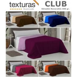 TEXTURAS HOME - Edredón Liso Reversible CLUB Bicolor 300 gr.