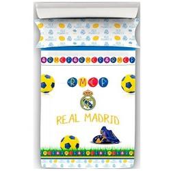 Juego de Sábanas del Real Madrid Decora Kids cama 90 X195 cm.