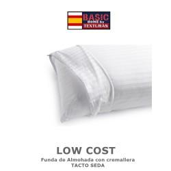 TEXTURAS HOME - Funda de almohada LOW COST Tacto SEDA ( Varios tamaños disponibles )