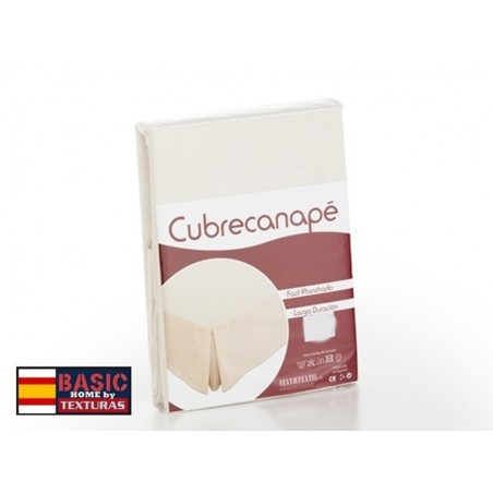 Cubrecanapé Loneta BASIC HOME by TEXTURAS Fuelle Inglés Crudo