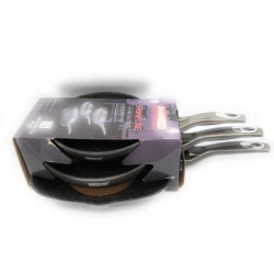 Swissline - Set de 2 sartenes + 1 Grill de color negro