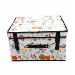 Caja de tela plegable impermeable Junior 40x30x25 cm