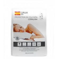 COFLOR SPAIN - Protector de colchón Coralina Transpirable PU 135 x 190/200 cm