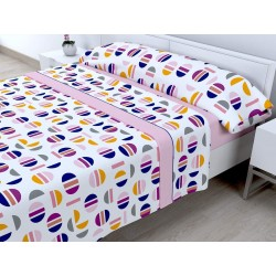 Juego de sábanas Invierno Térmica 120 gr Picolo Rosa ( Cama 90 x 200 cm ))