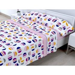 Juego de sábanas Invierno Térmica 120 gr Picolo Rosa ( Cama 105 x 200 cm ))