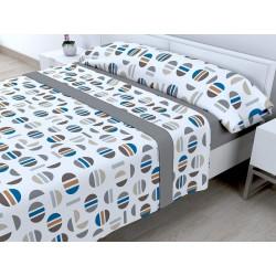 Juego de sábanas Invierno Térmica 120 gr Picolo Gris ( Cama 105 x 200 cm ))