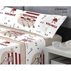 KABELY - Juego de sábanas Coralina Invierno Vikingo Rojo 90X190/200 cm