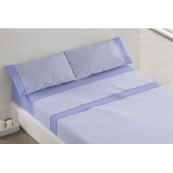 BURRITO BLANCO - Juego de sábanas Invierno FRANELA Azul 135x190/200 cm