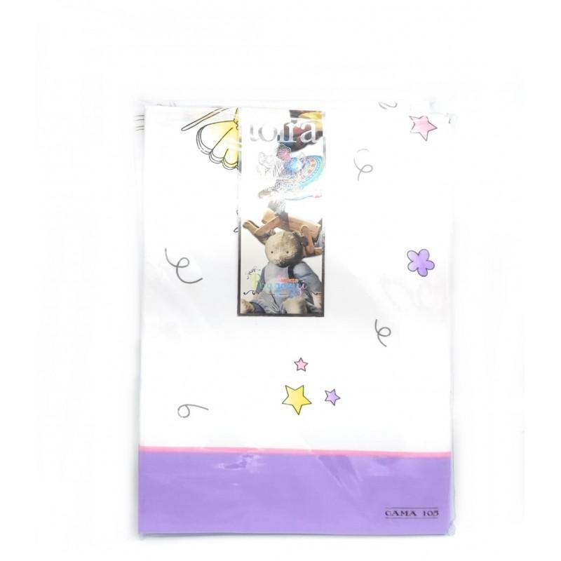 Tolrá Juego de sábanas Infantil Modelo Bailarina color Lila 105 x 190/200 cm