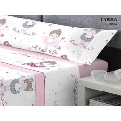KABELY - Juego de sábanas Coralina Invierno Lyssa rosa 90X190/200 cm