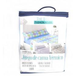 Juego de sábanas Térmica Invierno Sicilia Gris120 gr