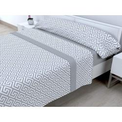 Juego de sábanas Invierno Térmica 120 gr Tales Gris ( Cama 135 x 200 cm )